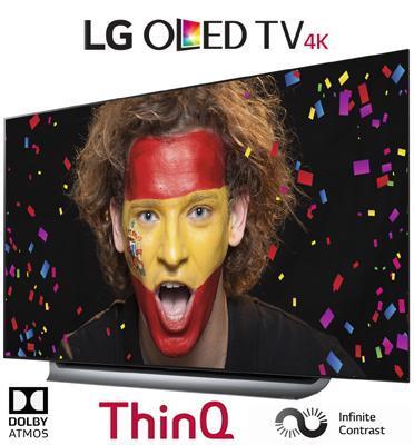 """טלויזיה """"77 בטכנולוגיית OLED ברזולוציית 4K Ultra HD תוצרת LG דגם OLED77C8Y"""
