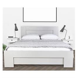 מיטה זוגית מעוצבת עשויה עץ מבית אולמפיה דגם 7019