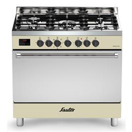 תנור אפייה משולב ברוחב 90 כולל צג דיגיטלי בגימור קרם עתיק תוצרת SAUTER דגם SBC9025CR