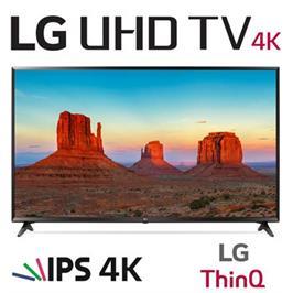 """טלויזיה חכמה """"50 LED 4K Smart TV עם פאנל IPS, אינדקס עיבוד תמונה תוצרת LG דגם 50UK6300Y"""