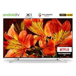 """טלויזיה """"75 4K Android TV בעיצוב Slice of living תוצרת SONY. דגם KD-75XF8596BAEP"""