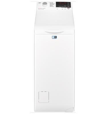 """מכונת כביסה פתח עליון 6 ק""""ג 1200 סל""""ד טכנולוגיית ProSense® תוצרת AEG דגם LTX6G6210AM"""