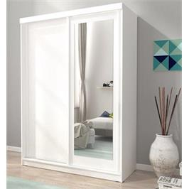 """ארון הזזה 150 ס""""מ עם דלת משולבת מראה תוצרת אירופה מבית HOME DECOR דגם אלסקה"""