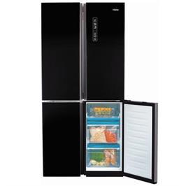 מקרר 4 דלתות No Frost גימור זכוכית שחורה 487 ליטר תוצרת .Haier דגם HRF457FB
