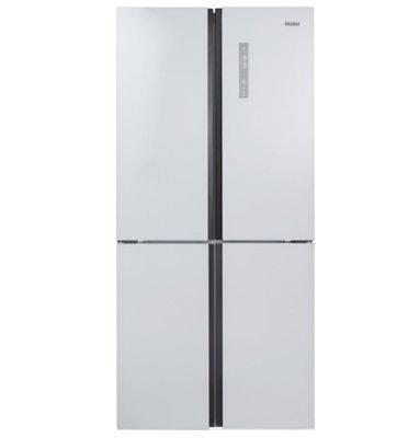 מקרר 4 דלתות No Frost גימור זכוכית לבנה תוצרת .Haier דגם HRF457FW