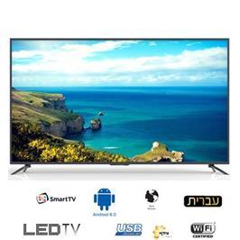 """טלויזיה """"75 4K Smart Android 6.0 תוצרת Haier דגם 75U6600TUA"""