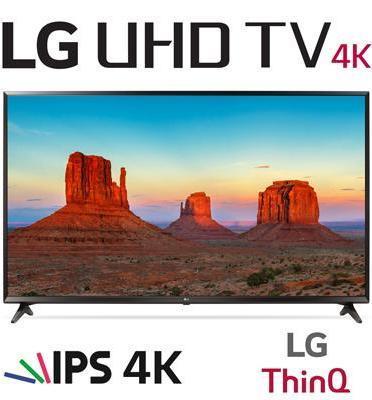 """טלויזיה חכמה """"55 LED 4K Smart TV עם פאנל IPS, אינדקס עיבוד תמונה תוצרת LG דגם 55UK6300Y"""