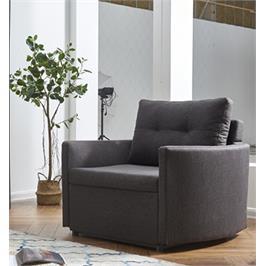 כורסא מעוצבת מרופדת בד ונפתחת למיטה HOME DECOR דגם שגיא