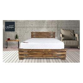 מיטה זוגית מעוצבת מעץ אורן מלא + מזרן קפיצים מתנה מבית OLIMPYA דגם 5008 + הרכבה בחינם!