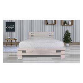 מיטה זוגית מעוצבת מעץ אורן מלא + מזרן קפיצים מתנה מבית OLIMPYA דגם 5009 + הרכבה והובלה חינם!