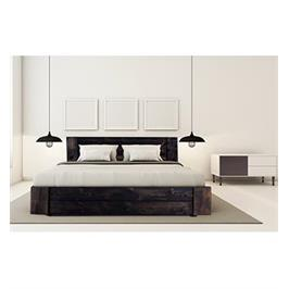 מיטה זוגית מעוצבת מעץ אורן מלא מבית OLIMPYA דגם 5019