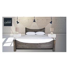 מיטה זוגית מעוצבת מעץ אורן מלא מבית OLIMPYA דגם 5021