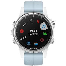 שעון מולטיספורט GPS עם מד דופק מפות צבעוניות ונגן מוזיקה מובנה מבית GARMIN דגם Fenix 5s Plus