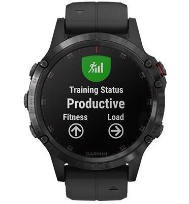 שעון מולטיספורט GPS עם מד דופק מפות צבעוניות ונגן מוזיקה מובנה מבית GARMIN דגם Fenix 5 Plus