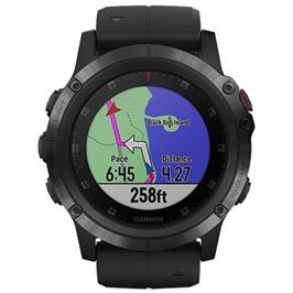 שעון מולטיספורט GPS עם מד דופק מפות טופוגרפיות וצבעוניות,מבית GARMIN דגם Fenix 5X Plus