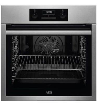 תנור אפיה בנוי 71 ליטר עם טורבו אקטיבי SurroundCook™ תוצרת AEG דגם BEE233101M