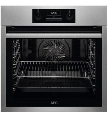תנור אפיה בנוי 71 ליטר עם טורבו אקטיבי SurroundCook™ תוצרת AEG דגם BEE233111M