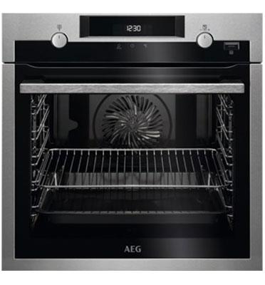 תנור אפיה בנוי פירוליטי 71 ליטר טורבו אקטיבי SteamBake™ PYROLUXE® PLUS תוצרת AEG דגם BPE255632M