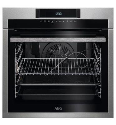 תנור אפיה בנוי פירוליטי 71 ליטר טורבו אקטיבי SenseCook™ PYROLUXE® PLUS תוצרת AEG דגם BPE264232M