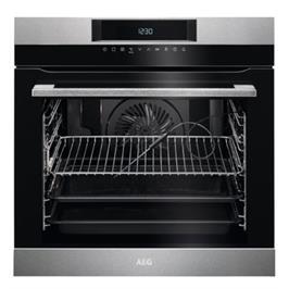 תנור אפיה בנוי פירוליטי 71 ליטר טורבו אקטיבי SenseCook™ PYROLUXE® PLUS תוצרת AEG דגם BPK264232M