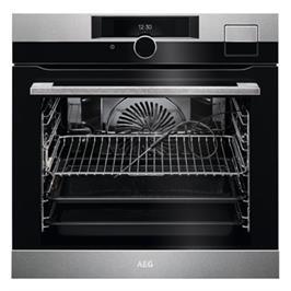 תנור אפיה בנוי 71 ליטר טורבו אקטיבי SteamPro™ Steam Clean תוצרת AEG דגם BSK289233M