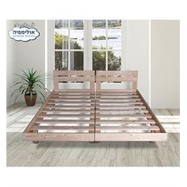 מיטה מעץ מלא בהפרדה יהודית תוצרת OLIMPYA דגם 5018