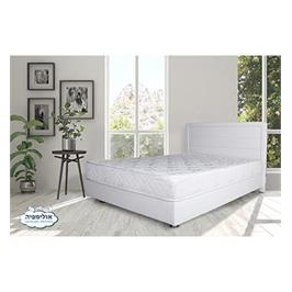 מיטה מעץ מרופדת בדמוי עור תוצרת OLIMPYA דגם 6009