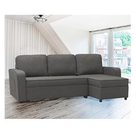 מערכת ישיבה פינתית מודולארית נפתחת למיטה עם ארגז מצעים תוצרת HOME DECOR דגם מיילי