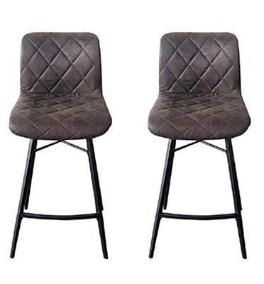 זוג כסאות בר עם רגלי מתכת תוצרת  HOME DECOR דגם רענן