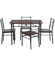 פינת אוכל מודרנית פרקטית כוללת שולחן וארבע כסאות תואמים מבית HOMAX דגם דוידסון