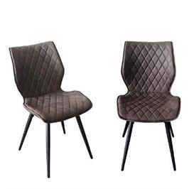 זוג כסאות לפינת אוכל עם רגלי מתכת תוצרת HOME DECOR דגם רונן