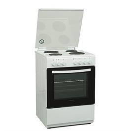 תנור אפיה משולב כיריים חשמליות בצבע לבן 62 ליטר תוצרת Normande דגם KL-6060FE