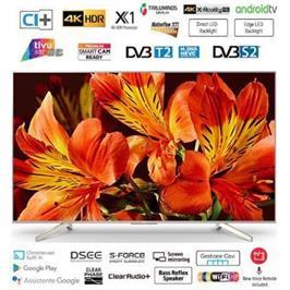 """טלויזיה """"65 4K Android TV בעיצוב Slice of living תוצרת SONY דגם KD-65XF8596BAEP"""