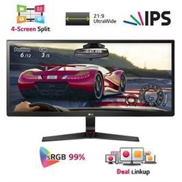 """מסך מחשב 34"""" מקצועי רחב 21:9 Ultra Wide מיוחד לגיימינג תוצרת LG דגם 34UM69G-B"""