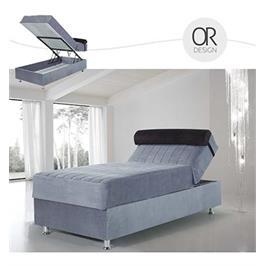 מיטת יחיד 90 סמ סופר אורטופדית עם מזרן כולל ראש מתכוונן וארגז מבית OR DESIGN דגם פלג