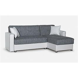 מערכת ישיבה פינתית נפתחת למיטה מרופדת בדמוי עור משולב בד + ארגז מצעים מבית Or-Design דגם אלזה