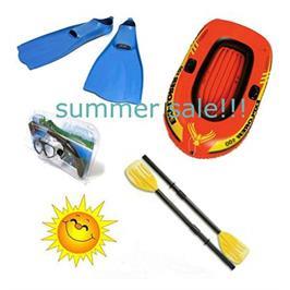 חבילת צלילה מושלמת הכוללת: סירה, זוג משוטים מתקפלים,שנורקל,משקפת וסנפירים דגם Diving