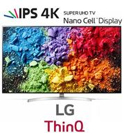 "טלוויזית 65"" LED SMART TV ULTRA HD 4K פאנל IPS  מבית LG. דגם 65SK8500Y מקרן קול SJ4 מתנה!!!"