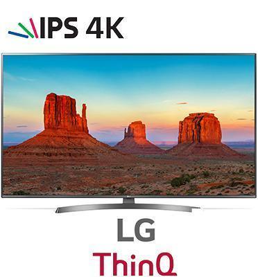 """טלוויזית 65"""" LED SMART TV ULTRA HD רזלוציית 4K פאנל IPS תמונה עוצרת נשימה מבית LG דגם 65UK6700Y"""