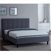 מיטה זוגית מרופדת בבד אפור בעלת רגליים מעץ אלגנטי יוקרתי מבית Vitorio Divani דגם סליפי 140*190