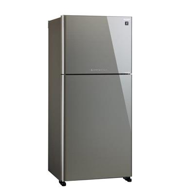 מקרר 2 דלתות 600 ליטר NO FROST כולל ICE MAKER גימור זכוכית סילבר תוצרת SHARP דגם SJ-4360