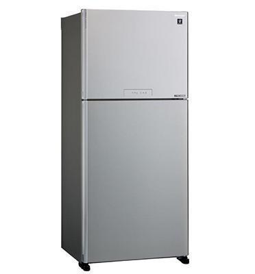 מקרר 2 דלתות נפח 558 ליטר NO FROST כולל ICE MAKER גימור זכוכית סילבר תוצרת SHARP דגם SJ-4355