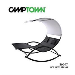כסא נדנדה זוגי צבע שחור מבית CAMPTOWN דגם 39097 / PIRAEUS