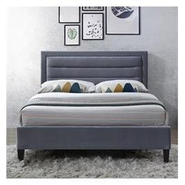 מיטה זוגית מרופדת בד קטיפתי תוצרת HOME DECOR דגם פונט