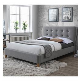 מיטת נוער רחבה ומעוצבת בריפוד בד ובעיצוב מרשים תוצרת HOME DECOR דגם טנגו 120