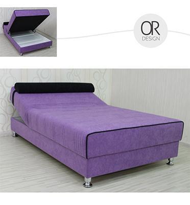 ספה ברוחב וחצי אורטופדית מרופדת בד מיקרופייבר עם ארגז ומנגנון הרמה ידני מבית Or-design דגם פאני