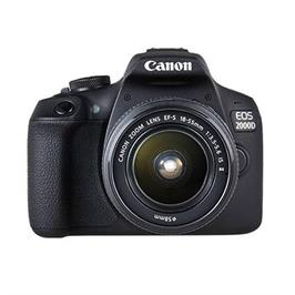 """מצלמה 3"""" רפלקס DSLR  24.1MP תוצרת CANON דגם EOS 2000D + קיט עדשה 18-55"""