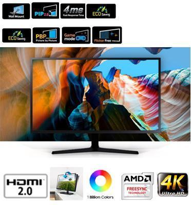 """מסך מחשב פרמיום """"31.5 LED 4K תוצרת SAMSUNG דגם U32J590UQM"""