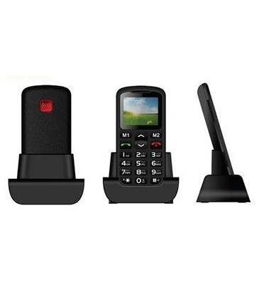 טלפון סלולארי למבוגרים כולל תחנת עגינה ולחצן מצוקה מבית MATRIX דגם Eco Senior Plus