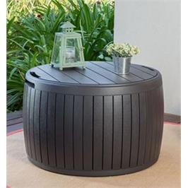"""ארגז אחסון סירקה דמוי עץ נפח- 143 ליטר מכניס סטייל ונוחות מבית כתר פלסטיק בע""""מ"""